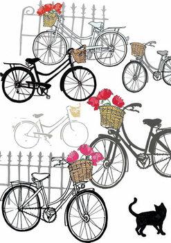 Bicycles, 2013 Festmény reprodukció