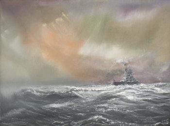 Bismarck signals Prinz Eugen 0959hrs 24/051941, 2007, Festmény reprodukció
