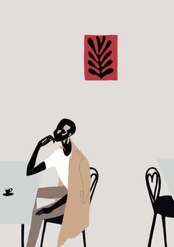 Cafe Scene with Matisse, 2016, Festmény reprodukció