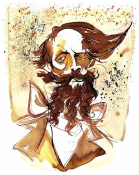 Charles Dickens - caricature Festmény reprodukció