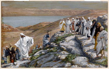 Christ Sending Out the Seventy Disciples, Two by Two, illustration for 'The Life of Christ', c.1884-96 Festmény reprodukció