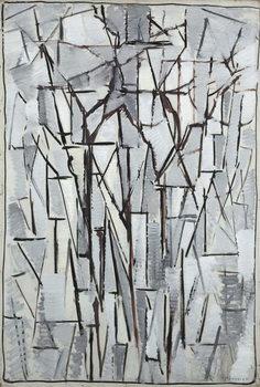 Composition trees 2, 1912-13 Festmény reprodukció