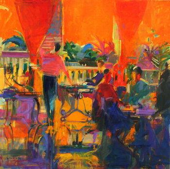 Courtyard Cafe, Tunis Festmény reprodukció