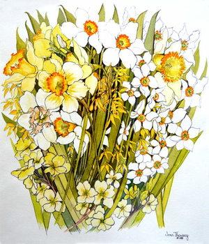 Daffodils, Narcissus, Forsythia and Primroses, 2000 Festmény reprodukció