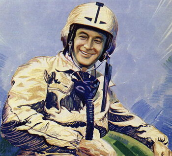 Donald Campbell and Blue Bird held the land speed record briefly Festmény reprodukció
