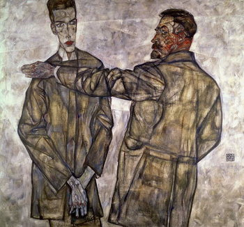Double Portrait of Otto and Heinrich Benesch, 1913 Festmény reprodukció