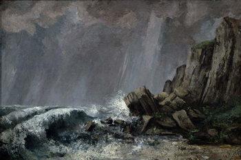 Downpour at Etretat Festmény reprodukció