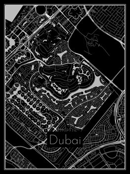Dubai térképe
