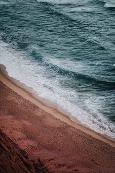 Exkluzív Művész Fotók Empty red beach at sunset