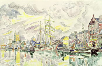 Fecamp, 1934 Festmény reprodukció