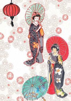 Geisha, 2013 Festmény reprodukció
