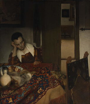Girl asleep at a table, 1656-57 Festmény reprodukció