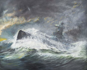 Graf Spee enters the Indian Ocean 3rd November 1939, 2006, Festmény reprodukció
