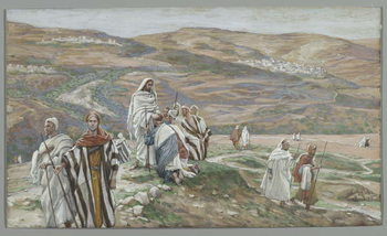 He Sent them out Two by Two, illustration from 'The Life of Our Lord Jesus Christ', 1886-96 Festmény reprodukció