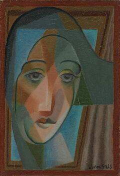 Head of a Harlequin; Tete d'Arlequin, 1924 Festmény reprodukció