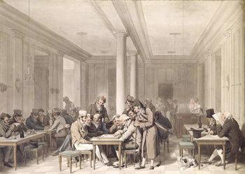 Interior of a Parisian Cafe, c.1815 Festmény reprodukció