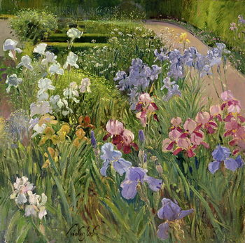 Irises at Bedfield Festmény reprodukció