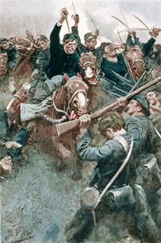 Jackson's Brigade Standing Like a Stone Wall before the Federal Onslaught at Bull Run, illustration from 'Non-Combatants' by Robert W. Chambers, pub. in Harper's Magazine, 1904 Festmény reprodukció