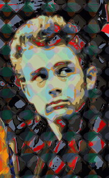 James Dean Festmény reprodukció