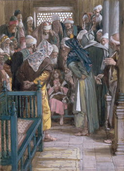 Jesus amidst the doctors, illustration for 'The Life of Christ', c.1886-96 Festmény reprodukció