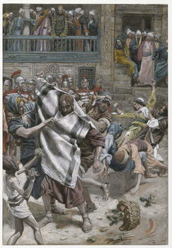 Jesus Before Herod, illustration from 'The Life of Our Lord Jesus Christ', 1886-94 Festmény reprodukció