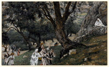 Jesus Went out into a Desert Place, illustration for 'The Life of Christ', c.1884-96 Festmény reprodukció