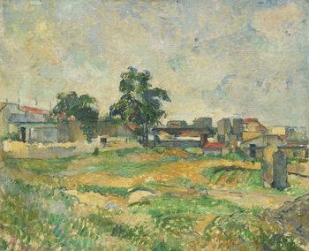 Landscape near Paris, c. 1876 Festmény reprodukció