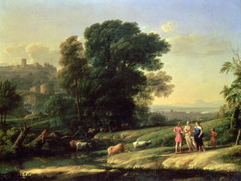 Landscape with Cephalus and Procris Reunited by Diana, 1645 Festmény reprodukció