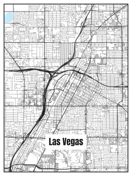 Las Vegas térképe