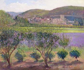 Lavender Seen Through Quince Trees, Monclus Festmény reprodukció