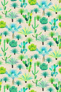 Les Jardins Majorelle - Cacti Festmény reprodukció