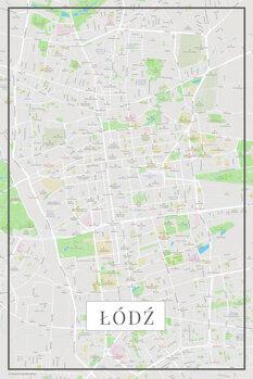 Lodz color térképe