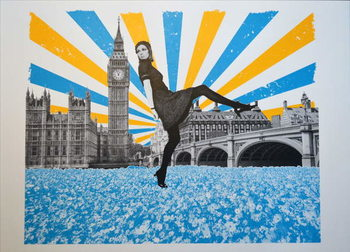 London Stride, 2018, Screenprinting Festmény reprodukció