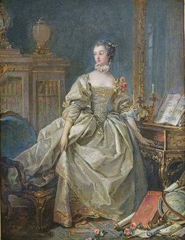 Madame de Pompadour (1721-64) Festmény reprodukció
