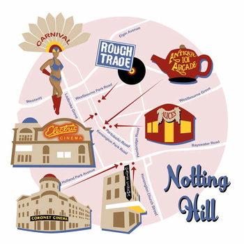 Map of Notting Hill Festmény reprodukció