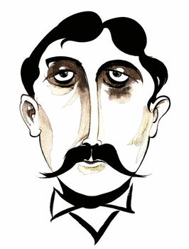 Marcel Proust -  caricature Festmény reprodukció