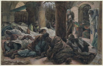 Mary Magdalene Runs and Tells the Disciples that the Body of Christ is No Longer in the Tomb, illustration for 'The Life of Christ', c.1886-94 Festmény reprodukció