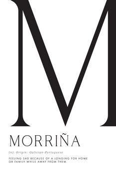 Ábra Morriña, Longing for home typography art
