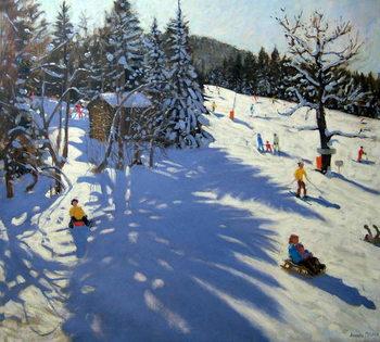 Mountain hut, Morzine Festmény reprodukció