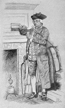 Mynheer's Morning Horn, from Harper's Magazine, 1881 Festmény reprodukció