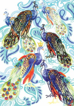 Paisley Peacock, 2013 Festmény reprodukció