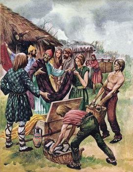 Phoenician merchants trading in Britain Festmény reprodukció