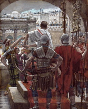 Pilate Washes His Hands, illustration for 'The Life of Christ', c.1886-94 Festmény reprodukció