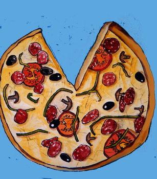 Pizza Festmény reprodukció