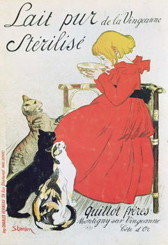 Poster advertising 'Pure Sterilised Milk from La Vingeanne' Festmény reprodukció