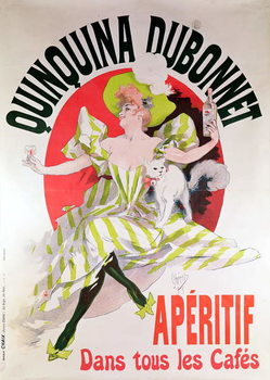 Poster advertising 'Quinquina Dubonnet' aperitif, 1895 Festmény reprodukció