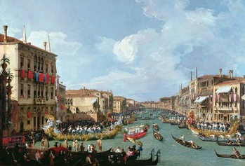 Regatta on the Grand Canal Festmény reprodukció
