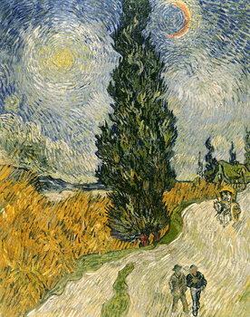 Road with Cypresses, 1890 Festmény reprodukció