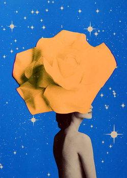 Secret woman _ Orange Festmény reprodukció