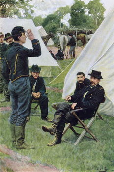 Sheridan's First Interview with Rowand, illustration from 'Rowand' by William Gilmore Beymer, pub. in Harper's Weekly, June 1909 Festmény reprodukció